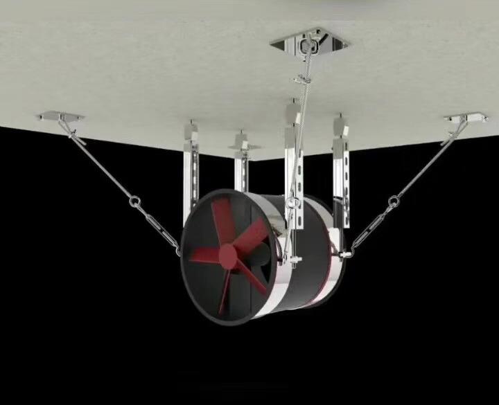 侧纵向抗震支架-圆形通风管道