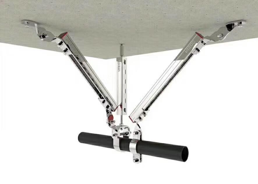 侧纵向抗震支架-水管