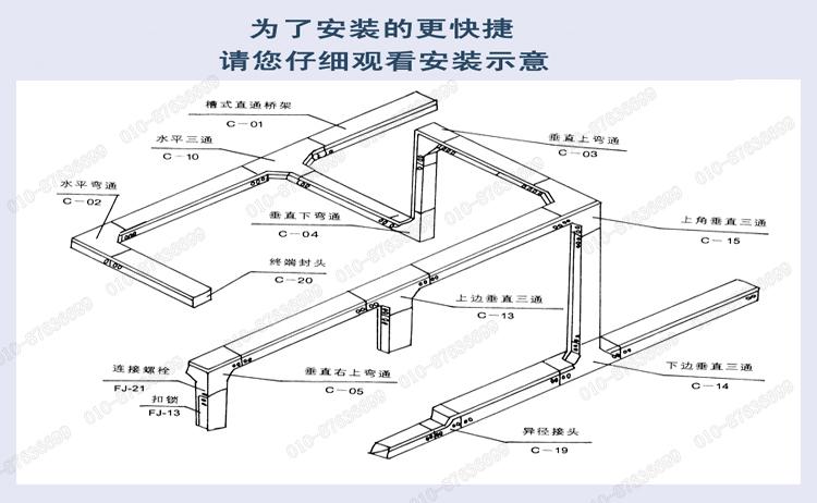 电缆桥架工艺要求